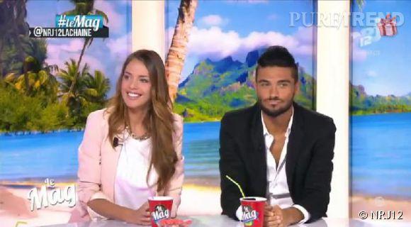 """Vanessa Lawrens et Julien Guirado (""""Les Anges 6"""") : des révélations sur leur couple et des règlements de compte sur le plateau du """"Mag"""" de  NRJ12 ."""