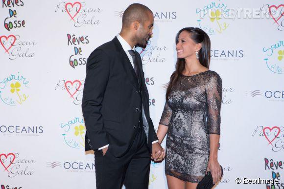 Tony Parker et Axelle Francine, un couple glamour et très amoureux venu hier soir à Lyon pour le Par Coeur Gala.
