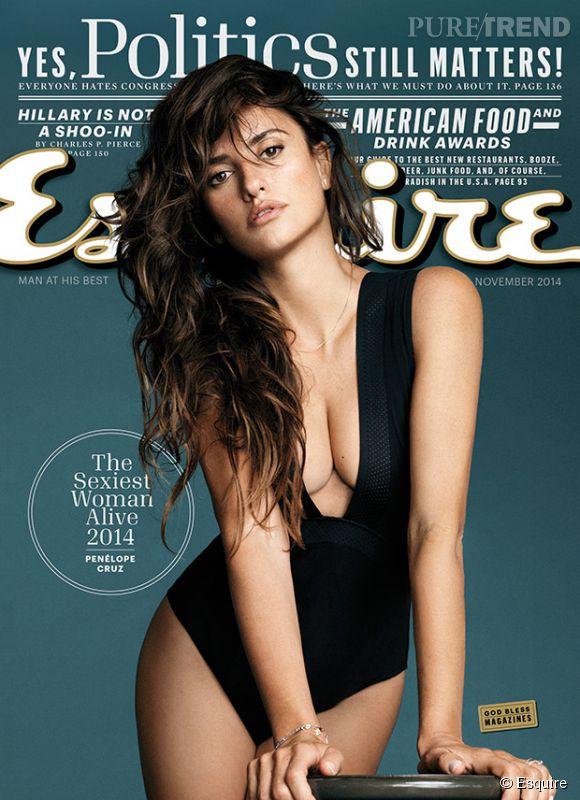 Penélope Cruz, femme la plus sexy de 2014 selon Esquire.