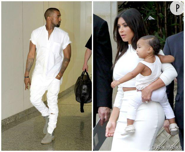 Kanye West et North.