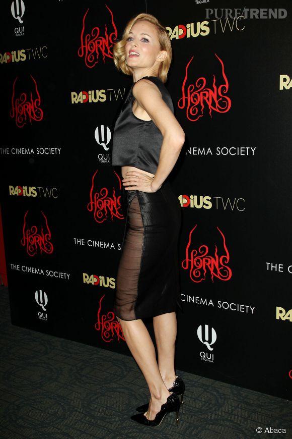 """Heather Graham à la première de """"Horns"""" à New York le 28 octobre 2014."""