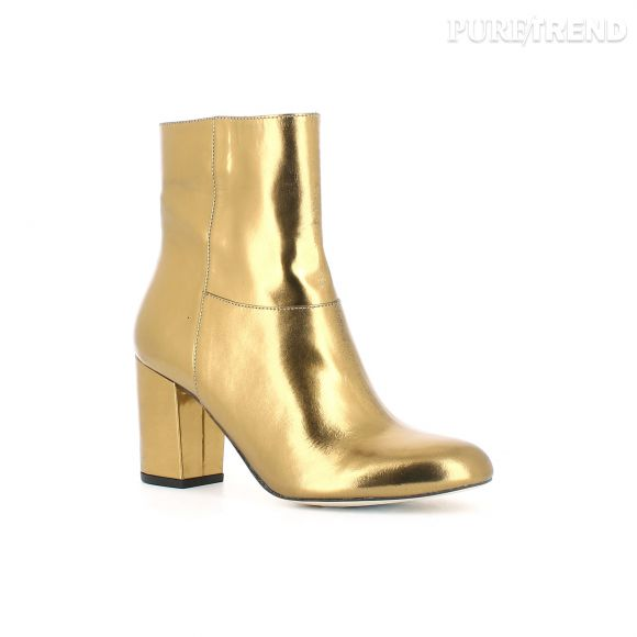 Modele Boots Or De La Capsule Happy Fifty De Jonak 135 Euros