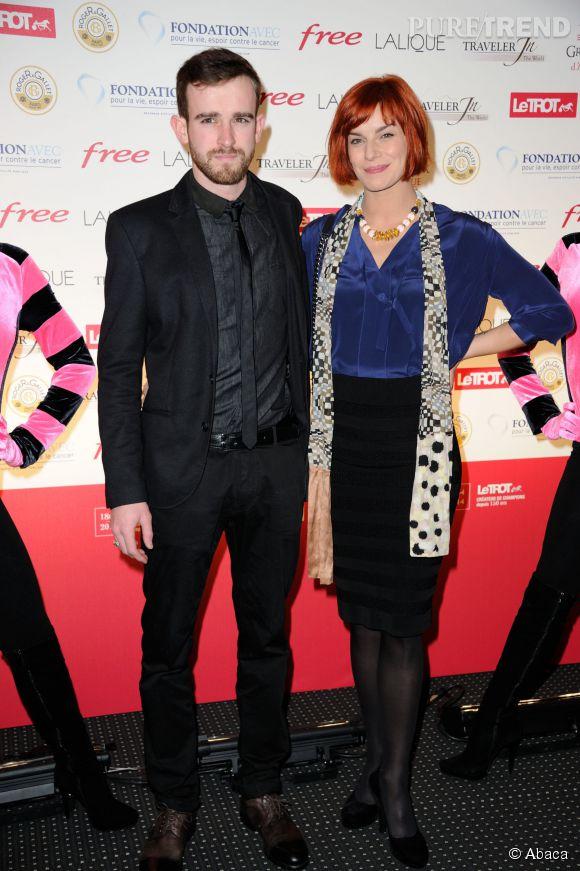Fauve Hautot et Jules au 93eme Grand Prix d'Amérique, en janvier 2014.