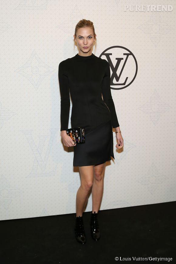Karlie Kloss lors de la soirée Louis Vuitton Monogram au MoMa à New York le 7 novembre 2014.
