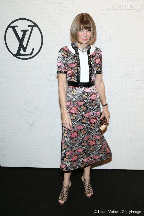 Anna Wintour lors de la soirée Louis Vuitton Monogram au MoMa à New York le 7 novembre 2014.