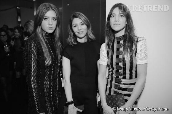 Adèle Exarchopoulos, Sofia Coppola et Charlotte Gainsbourg lors de la soirée Louis Vuitton Monogram au MoMa à New York le 7 novembre 2014.