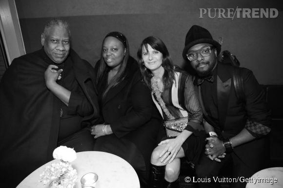 André Leon Talley, Pat McGrath, Marie-Amélie Sauvé et Will.i.am lors de la soirée Louis Vuitton Monogram au MoMa à New York le 7 novembre 2014.