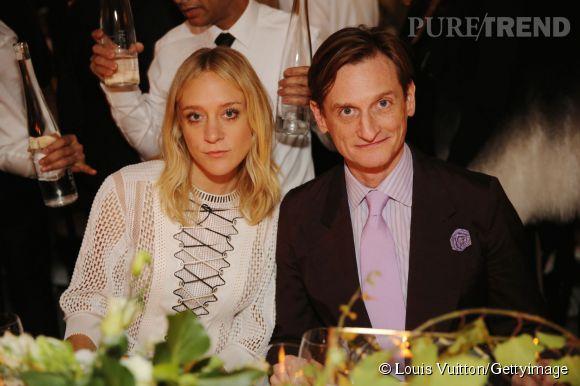Chloë Sevigny et Hamish Bowles lors de la soirée Louis Vuitton Monogram au MoMa à New York le 7 novembre 2014.