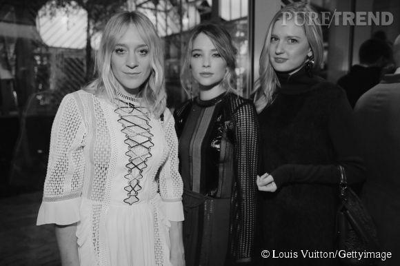 Chloë Sevigny, Hailey Bennett et une amie lors de la soirée Louis Vuitton Monogram au MoMa à New York le 7 novembre 2014.