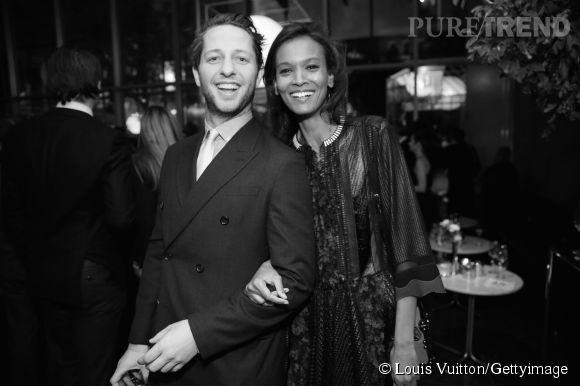 Derek Blasberg et Liya Kebede lors de la soirée Louis Vuitton Monogram au MoMa à New York le 7 novembre 2014.