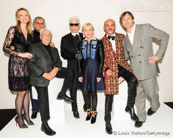 Franck Gehry bien entouré lors de la soirée Louis Vuitton Monogram au MoMa à New York le 7 novembre 2014.