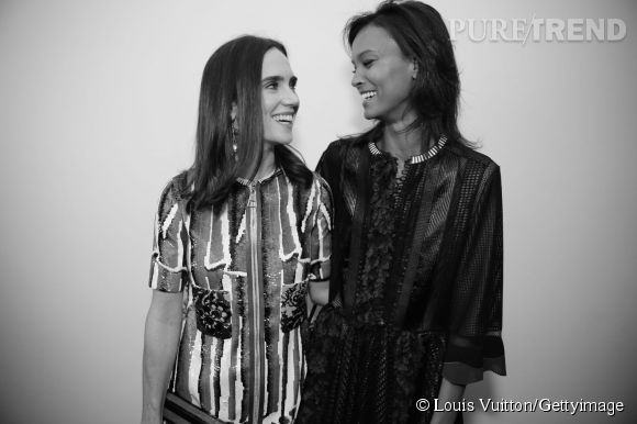 Jennifer Connelly et Liya Kebede lors de la soirée Louis Vuitton Monogram au MoMa à New York le 7 novembre 2014.