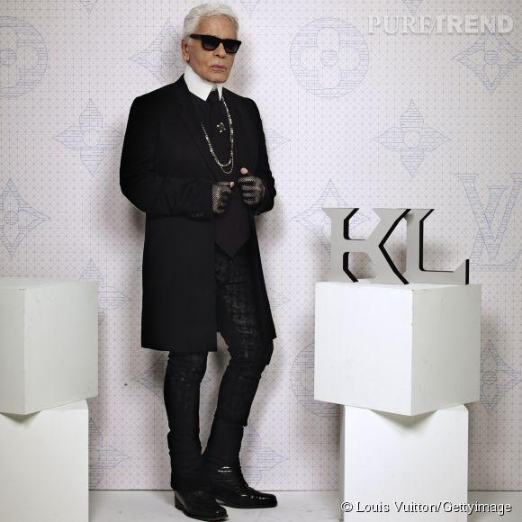 Karl Lagerfeld lors de la soirée Louis Vuitton Monogram au MoMa à New York le 7 novembre 2014.