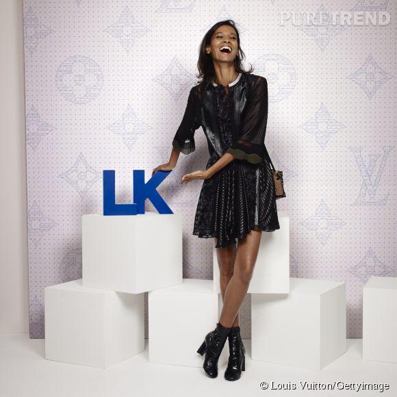 Liya Kebede lors de la soirée Louis Vuitton Monogram au MoMa à New York le 7 novembre 2014.