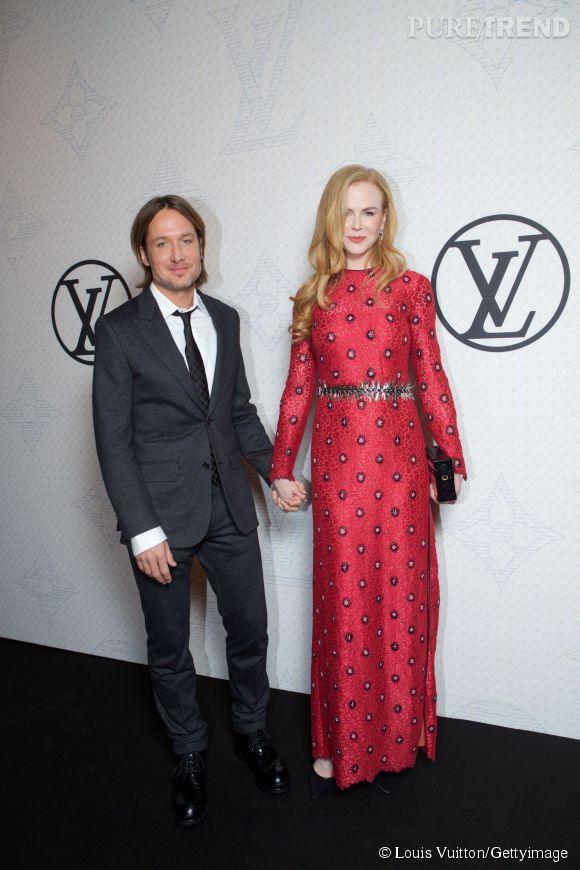 Keith Urban et Nicole Kidman lors de la soirée Louis Vuitton Monogram au MoMa à New York le 7 novembre 2014.