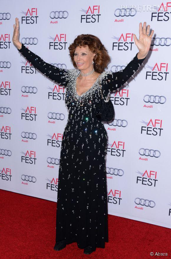 Sophia Loren honorée lors de l'AFI Fest le 12 novembre 2014 à Los Angeles.