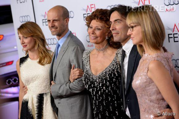 Sophia Loren aux côtés de ses fils et de ses belles-filles à Los Angeles.