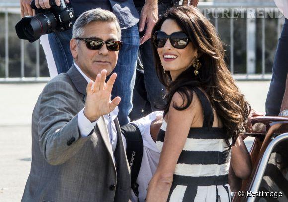 George et Amal Clooney se sont mariés en septembre dernier à Venise.