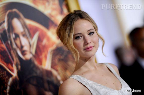 """Jennifer Lawrence à l'avant-première de """"Hunger Games, la révolte Partie 1""""."""