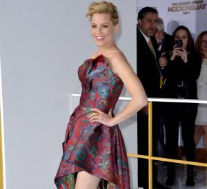 """Elizabeth Banks en Leonard à l'avant-première de """"Hunger Games, la révolte Partie 1""""."""