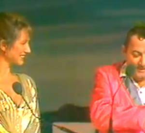 """Coluche et la """"lettre"""" d'Alain Delon aux César de 1985."""