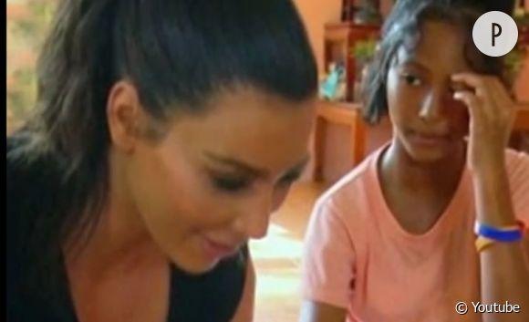 Kim Kardashian et la jeune Pink, qu'elle a souhaité adopter.