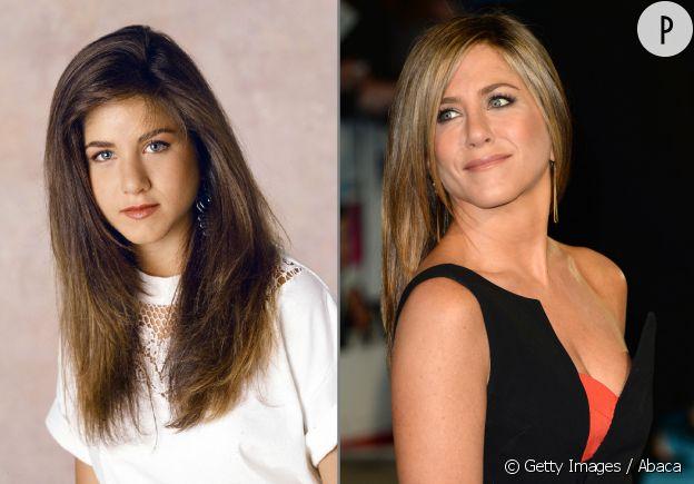 Jennifer Aniston avant et après sa rhinoplastie.