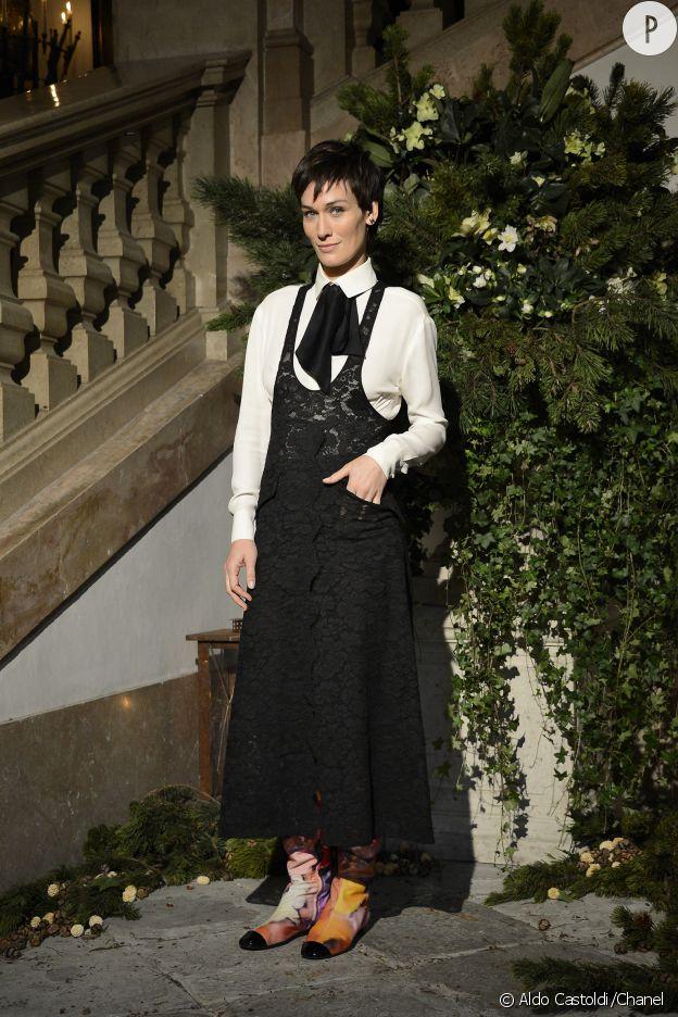 Clotilde Hesme au défilé des Métiers d'art de Chanel, Paris-Salzburg 2014/2015.