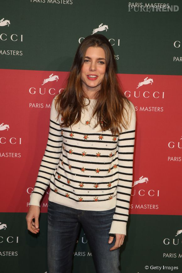 Charlotte Casiraghi, radieuse aux Gucci Masters 2014.