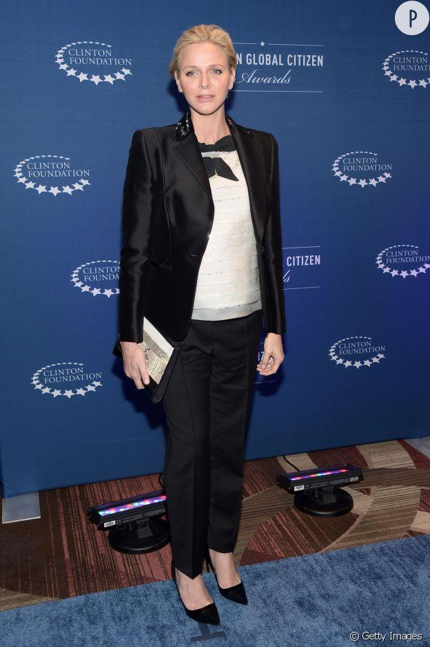 La princesse Charlene de Monaco aux Clinton Global Citizen Awards le 21 septembre à New York.