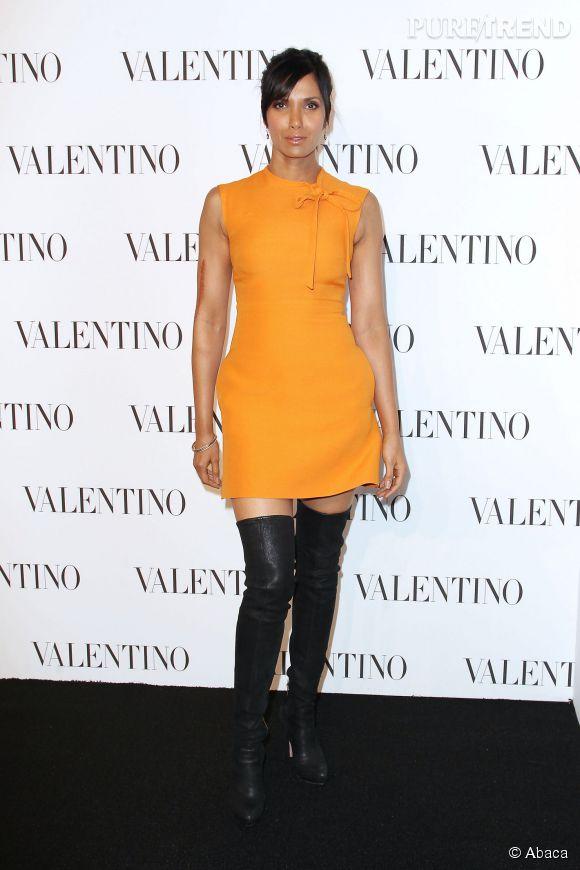 Padma Lakshmi à la soirée Valentino Sala Bianca 945 le 10 décembre 2014 à New York.