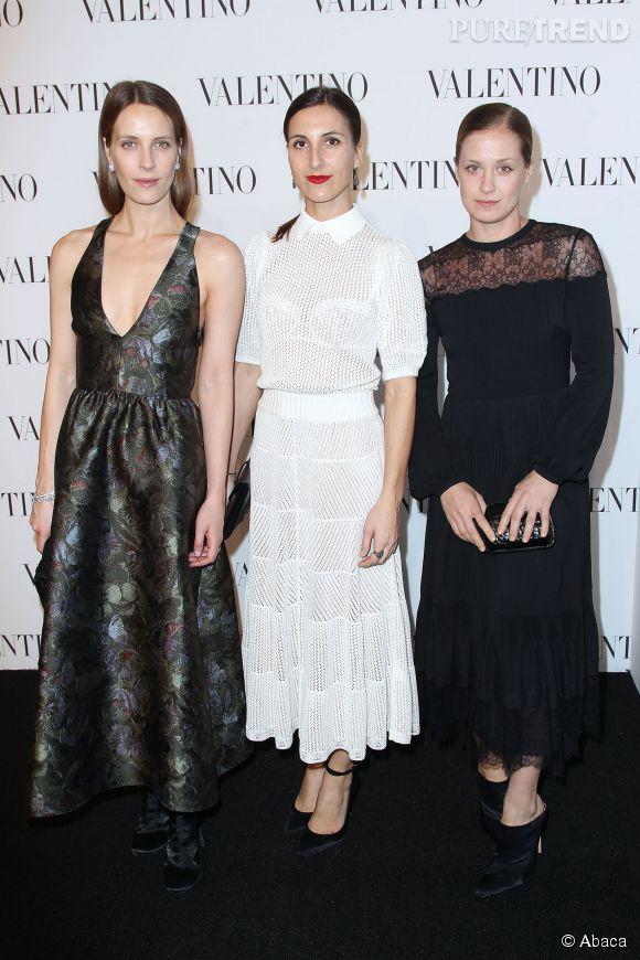 Vanessa, Victoria et Samantha Traina à la soirée Valentino Sala Bianca 945 le 10 décembre 2014 à New York.