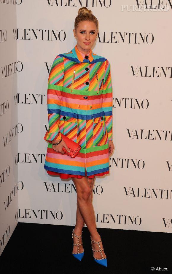 Nicky Hilton à la soirée Valentino Sala Bianca 945 le 10 décembre 2014 à New York.