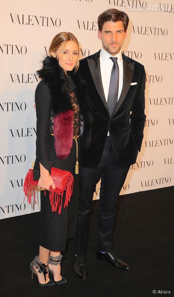 Olivia Palermo et Johannes Huebl à la soirée Valentino Sala Bianca 945 le 10 décembre 2014 à New York.