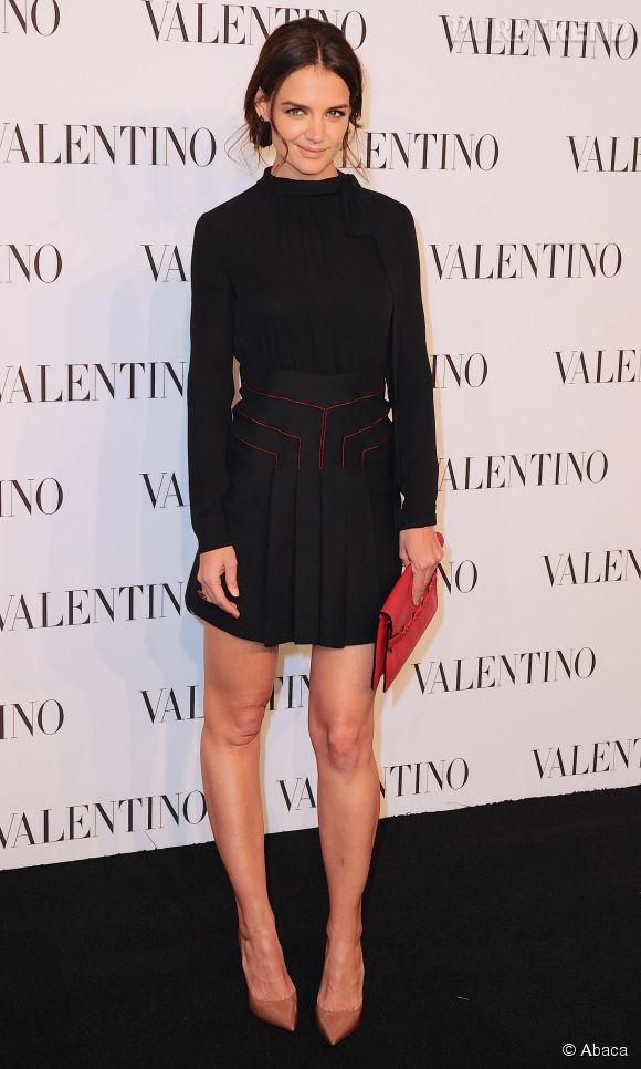 Katie Holmes à la soirée Valentino Sala Bianca 945 le 10 décembre 2014 à New York.