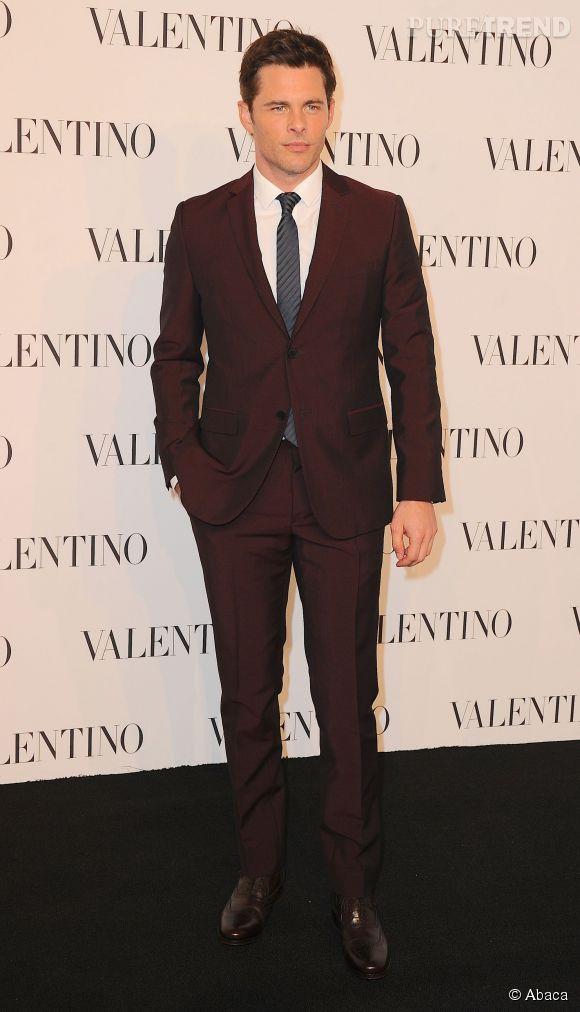 James Marsden à la soirée Valentino Sala Bianca 945 le 10 décembre 2014 à New York.