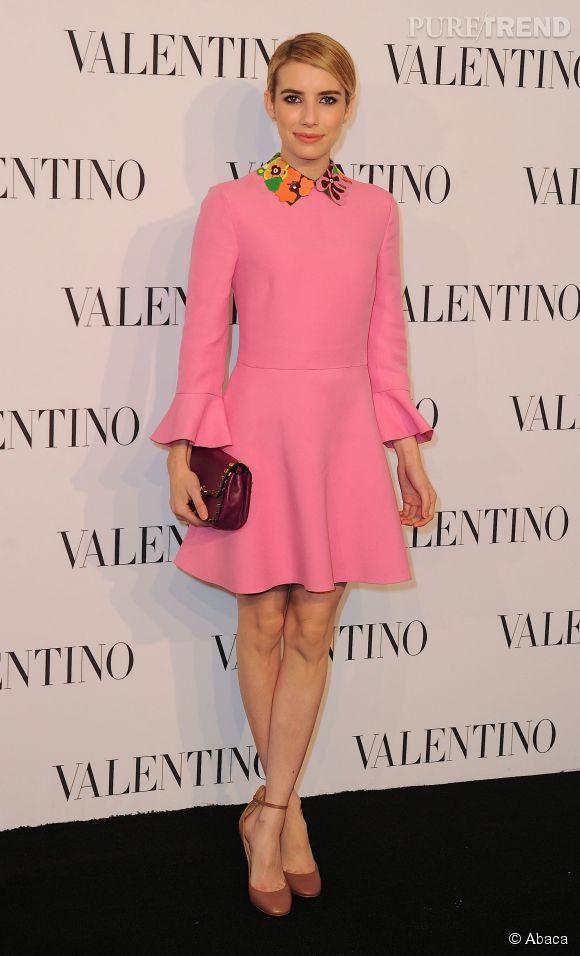 Emma Roberts à la soirée Valentino Sala Bianca 945 le 10 décembre 2014 à New York.