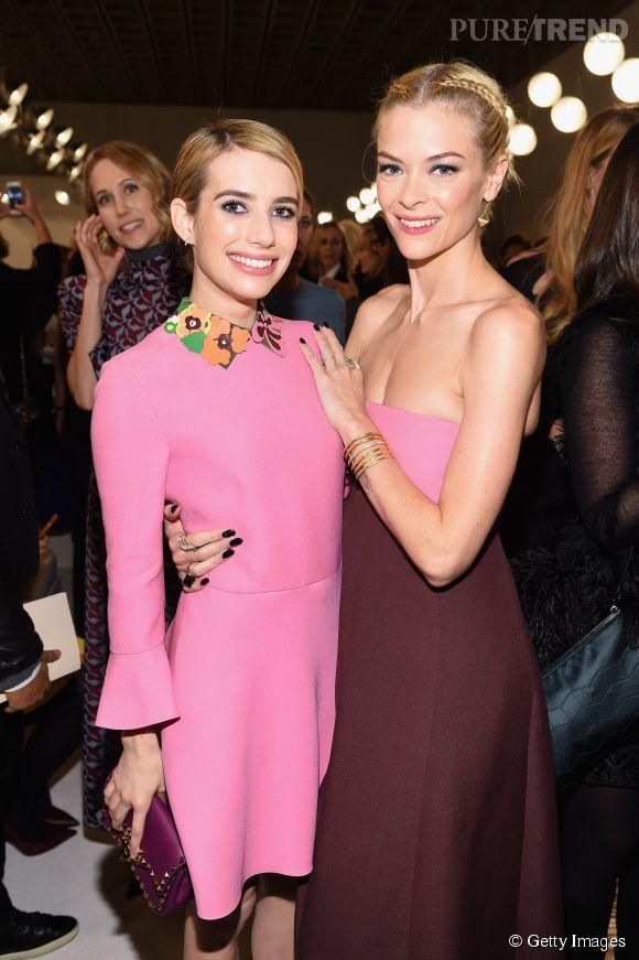 Emma Roberts et Jaime King à la soirée Valentino Sala Bianca 945 le 10 décembre 2014 à New York.