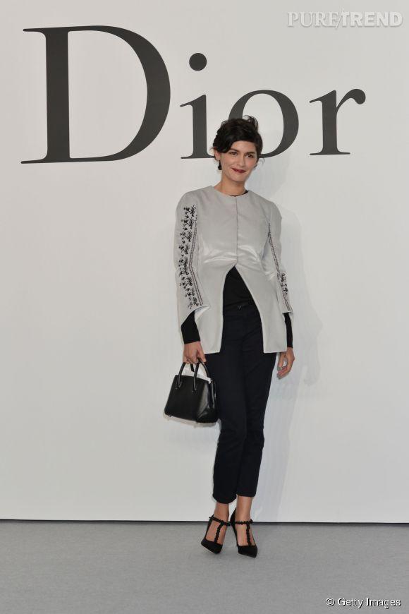"""Audrey Tautou au défilé """"Esprit Dior Tokyo"""" pour la pré-collection Automne-Hiver 2015/2016 le 11 décembre 2014."""