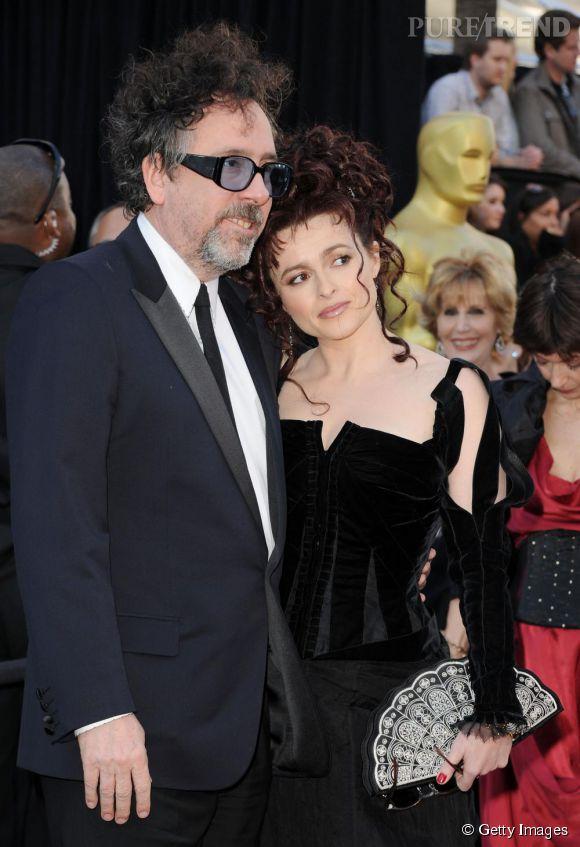 Helena Bonham Carter et Tim Burton : la fin d'un couple gothique et glamour et d'une collaboration cinématographique.