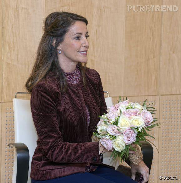 La princesse Marie du Danemark a hier assisté à la remise du prix littéraire des Ambassadeurs, à Copenhague.