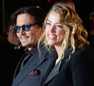 """Johnny Depp et Amber Heard plus amoureux que jamais à Londres pour """"Mortdecai"""""""