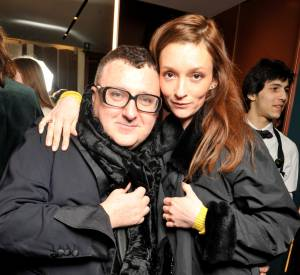 Alber Elbaz et Audrey Marnay lors du cocktail organisé pour l'ouverture de la nouvelle boutique Missoni à Paris le 27 janvier 2015.