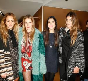 Alexia Niedzielski, Eugenie Niarchos, Noor Fares et Bianca Brandolini d'Adda lors du cocktail organisé pour l'ouverture de la nouvelle boutique Missoni à Paris le 27 janvier 2015.