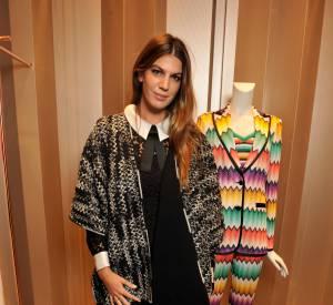 Bianca Brandolini d'Adda lors du cocktail organisé pour l'ouverture de la nouvelle boutique Missoni à Paris le 27 janvier 2015.
