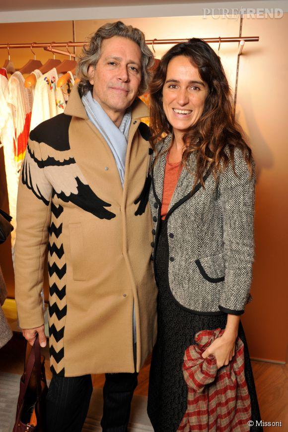 Carlos Souza et Coco Brandolini d'Adda lors du cocktail organisé pour l'ouverture de la nouvelle boutique Missoni à Paris le 27 janvier 2015.
