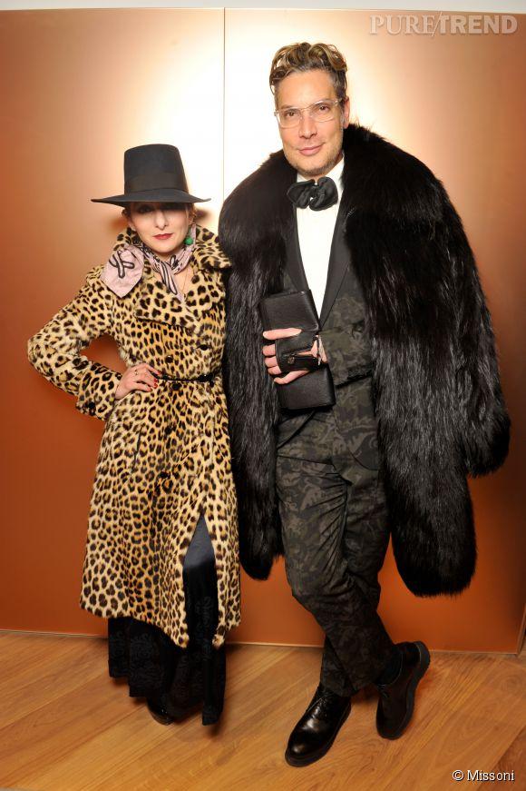 Catherine Baba et Cameron Silver lors du cocktail organisé pour l'ouverture de la nouvelle boutique Missoni à Paris le 27 janvier 2015.