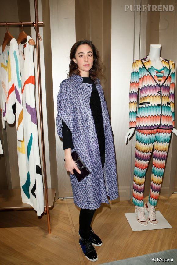 Clothilde de Kersauson d'Urso lors du cocktail organisé pour l'ouverture de la nouvelle boutique Missoni à Paris le 27 janvier 2015.