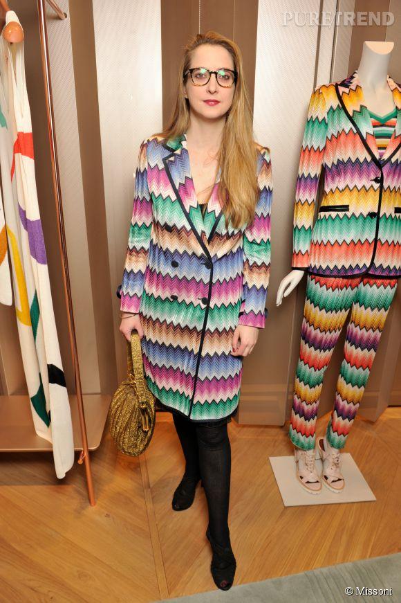 Daisy de Villeneuve lors du cocktail organisé pour l'ouverture de la nouvelle boutique Missoni à Paris le 27 janvier 2015.