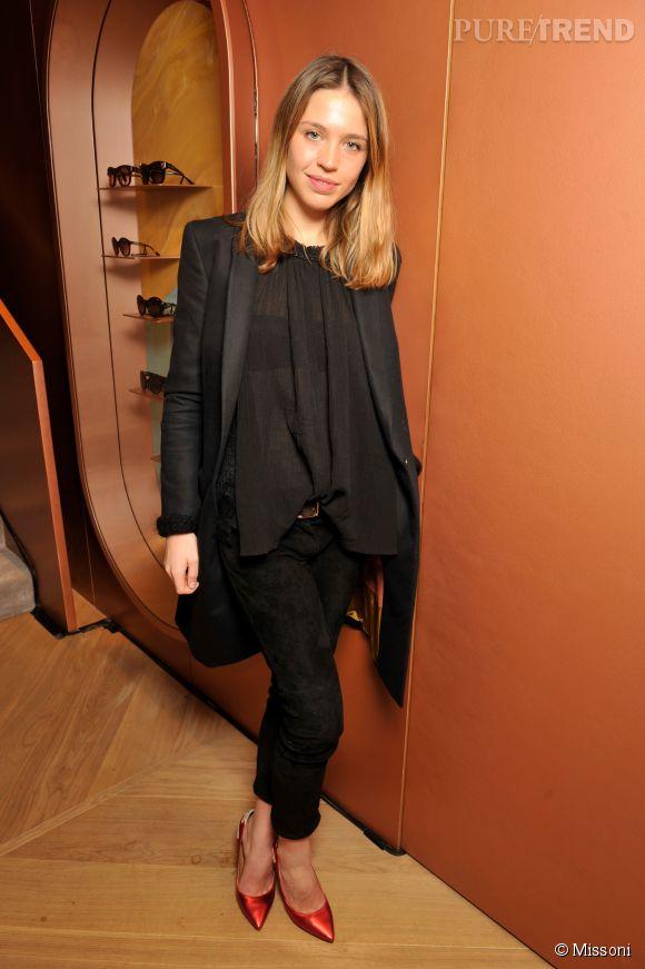 Emily Marant lors du cocktail organisé pour l'ouverture de la nouvelle boutique Missoni à Paris le 27 janvier 2015.